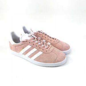 Adidas Mens Gazelle Pink Suede Casual Sneakers Sz9